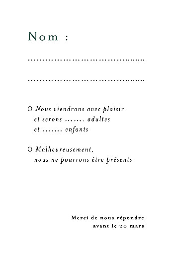 Carton réponse mariage Songe méditerranéen palmier - Page 2