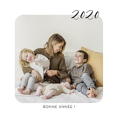 Carte de voeux Tendre innocence blanc finition