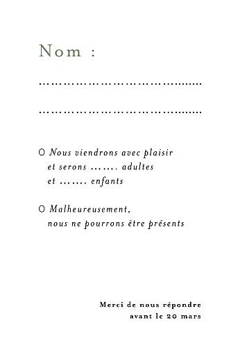 Carton réponse mariage Songe champêtre gypsophile - Page 2