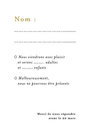 Carton réponse mariage Songe atlantique épillet - Page 2
