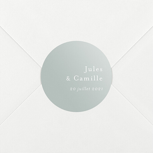 Stickers pour enveloppes mariage Songe champêtre gypsophile - Vue 2