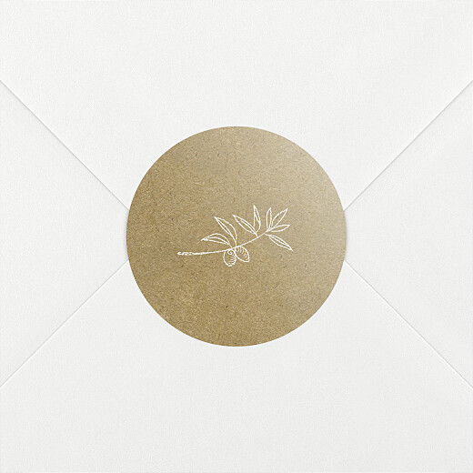 Stickers pour enveloppes mariage Provence kraft - Vue 2