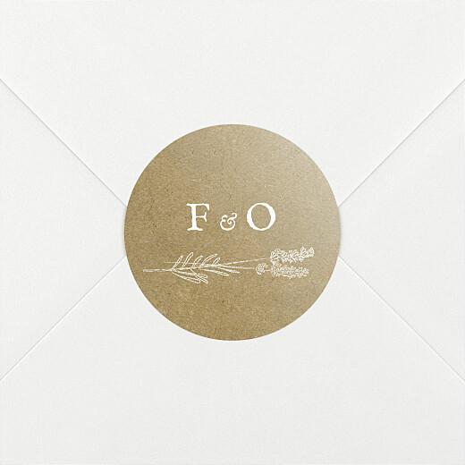 Stickers pour enveloppes mariage Provence kraft - Vue 2