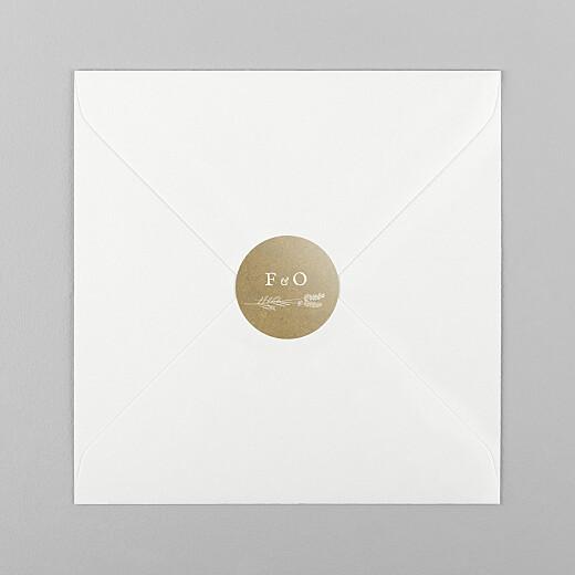 Stickers pour enveloppes mariage Provence kraft - Vue 1