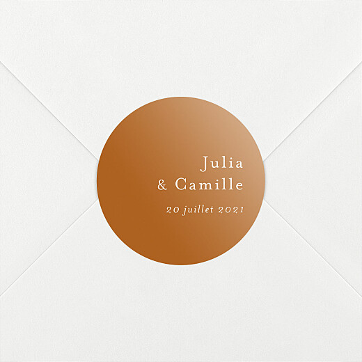 Stickers pour enveloppes mariage Songe méditerranéen palmier - Vue 2