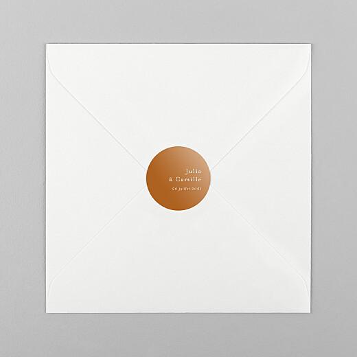 Stickers pour enveloppes mariage Songe méditerranéen palmier - Vue 1