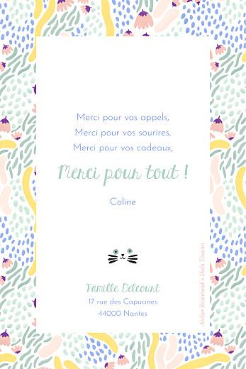 Carte de remerciement Les grigris dodo toucan vert - Page 2