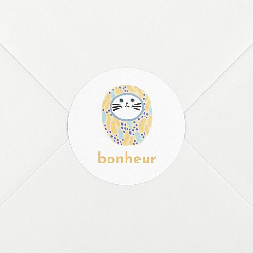 Stickers pour enveloppes naissance Les grigris dodo toucan jaune - Vue 2