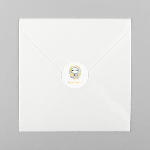 Stickers pour enveloppes naissance Les grigris dodo toucan jaune - Vue 1