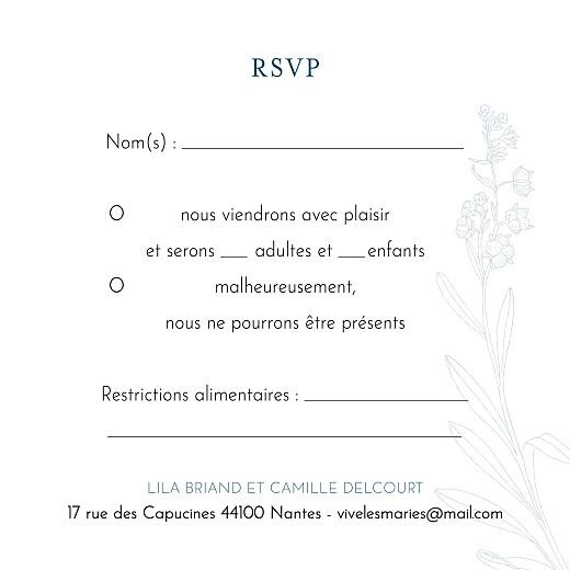 Carton réponse mariage Botanique bleu - Page 2