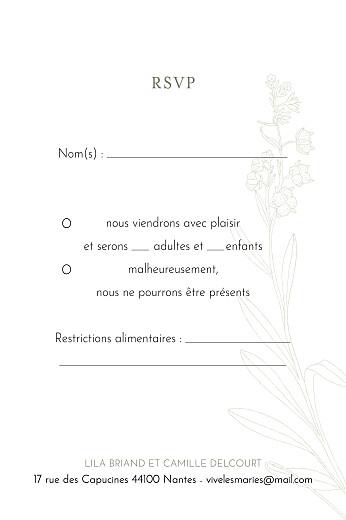 Carton réponse mariage Botanique (portrait) vert - Page 2