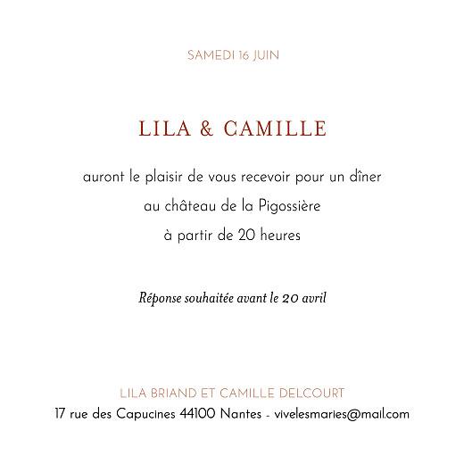 Carton d'invitation mariage Botanique rouille - Page 2