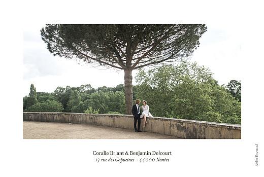 Carte de remerciement mariage Solstice d'été blanc - Page 4