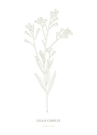 Livret de messe mariage Botanique vert