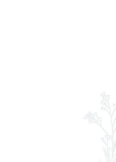 Livret de messe mariage Botanique bleu - Page 3