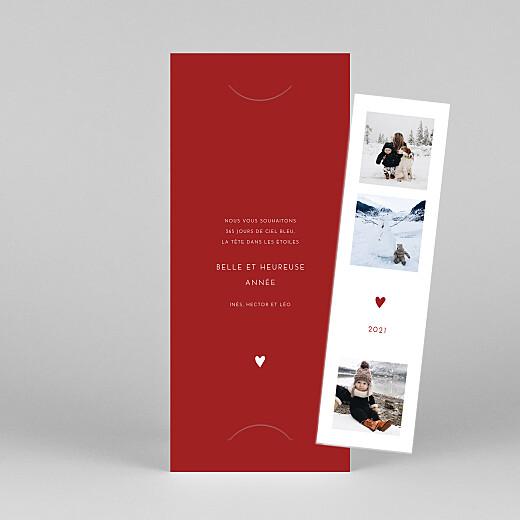 Carte de voeux Elegant cœur (marque-page) rouge - Vue 1