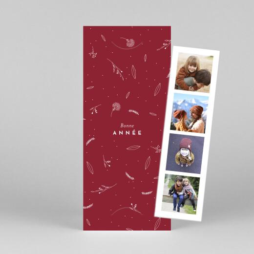 Carte de voeux Élégant feuillage (marque-page) rouge - Vue 1