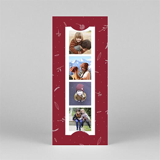 Carte de voeux Élégant feuillage (marque-page) rouge - Vue 2