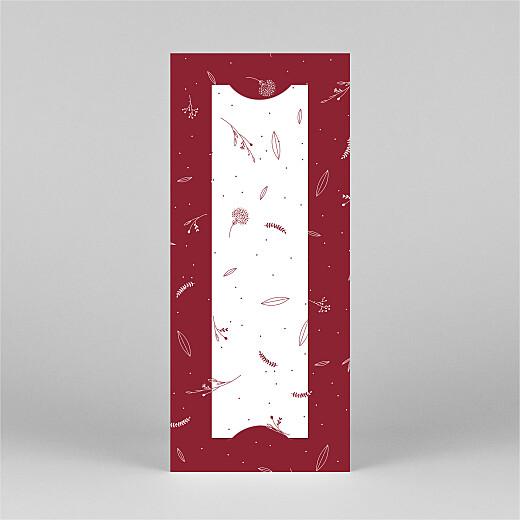 Carte de voeux Élégant feuillage (marque-page) rouge - Vue 3