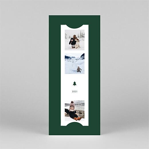 Carte de voeux Elegant sapin (marque-page) vert - Vue 2