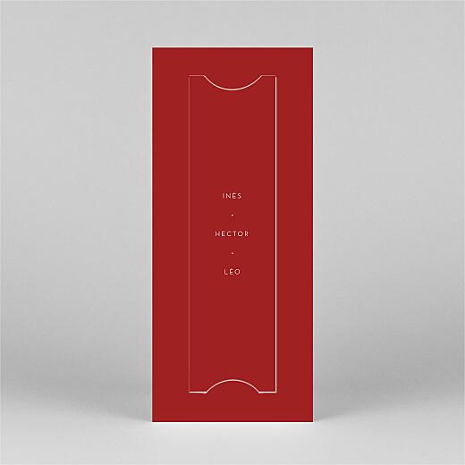 Carte de voeux Elegant étoile (marque-page) rouge - Vue 3