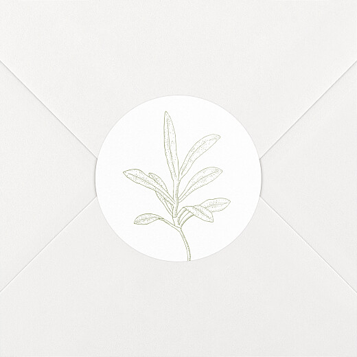 Stickers pour enveloppes mariage Botanique vert - Vue 2