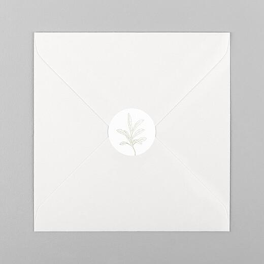 Stickers pour enveloppes mariage Botanique vert - Vue 1