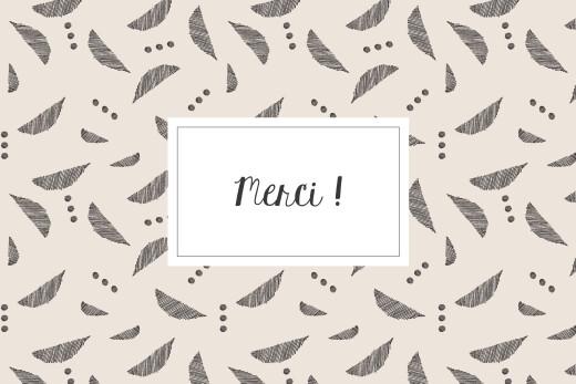 Carte de remerciement Croissant beige