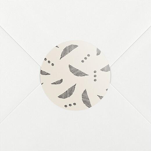 Stickers pour enveloppes naissance Croissant beige - Vue 2