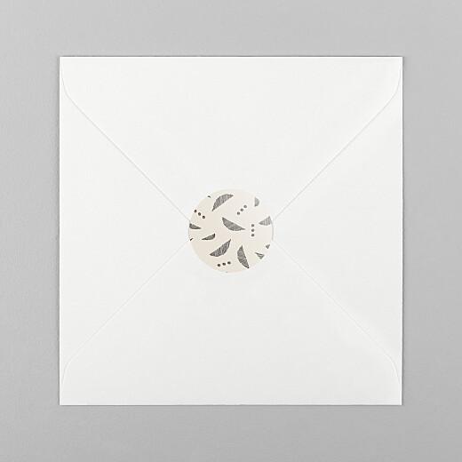 Stickers pour enveloppes naissance Croissant beige - Vue 1
