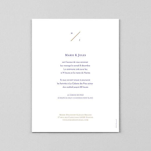 Faire-part de mariage Love code (calque) bleu - Vue 3