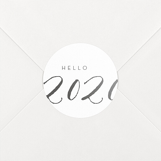 Stickers vœux Little big year hello - Vue 2