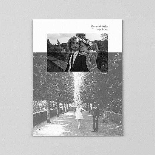 Carte de remerciement mariage Sobre portrait (calque) blanc - Vue 2