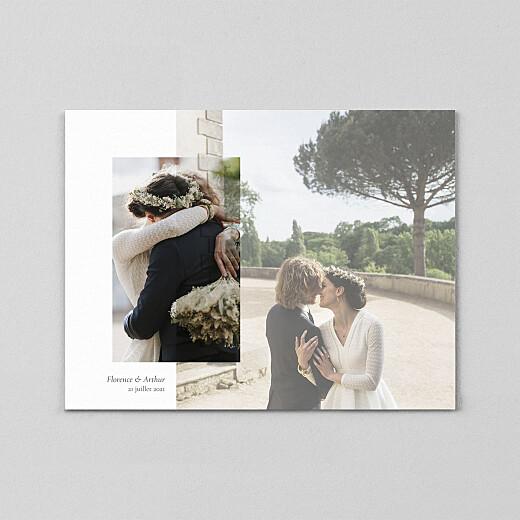 Carte de remerciement mariage Sobre (calque) blanc - Vue 2