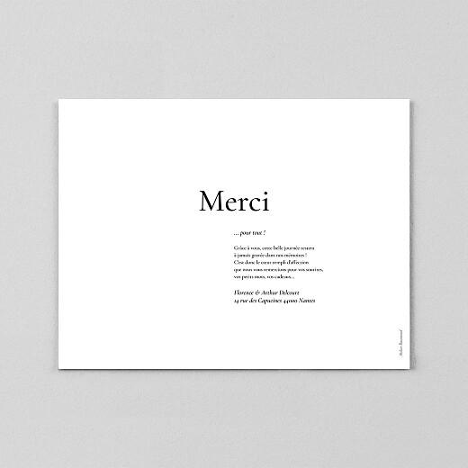 Carte de remerciement mariage Sobre (calque) blanc - Vue 3