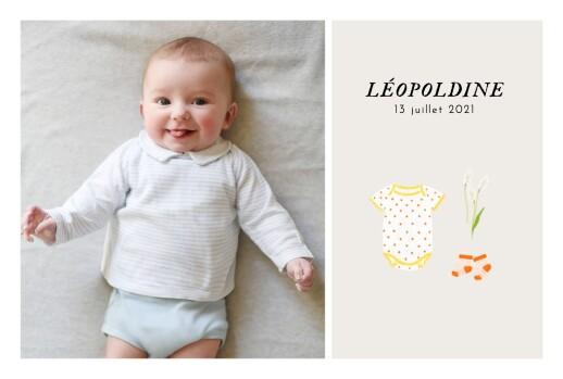 Faire-part de naissance Petit bateau x rosemood (photos) jaune corail