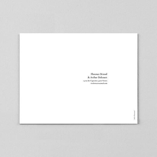 Faire-part de mariage Sobre (calque) blanc - Vue 3