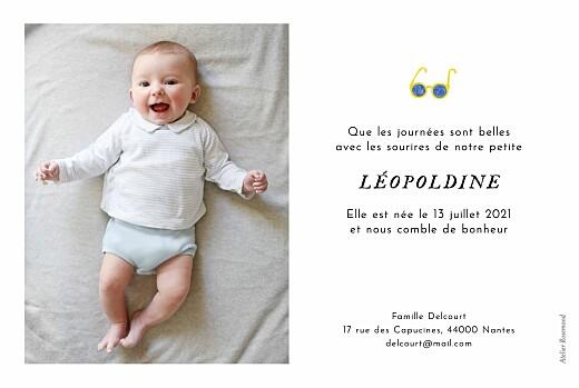 Faire-part de naissance Petit bateau x rosemood (paysage) jaune - Page 2