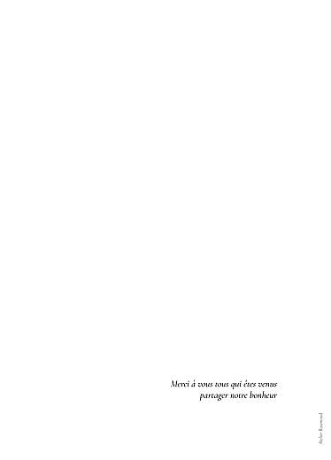 Livret de messe mariage Sobre blanc - Page 4