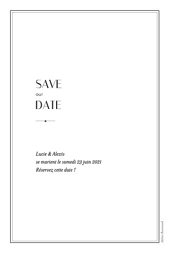 Save the Date Empreinte blanc - Page 2