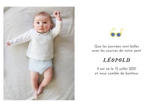 Faire-part de naissance Petit bateau x rosemood (3 photos) bleu - Page 3
