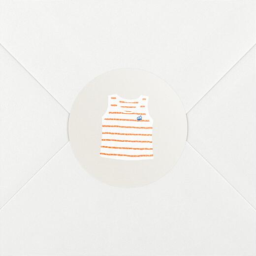 Stickers pour enveloppes naissance Petit bateau x rosemood marinière corail - Vue 2