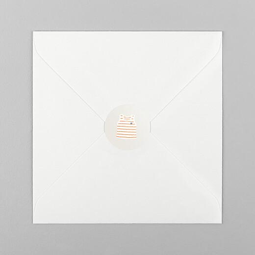 Stickers pour enveloppes naissance Petit bateau x rosemood marinière corail - Vue 1