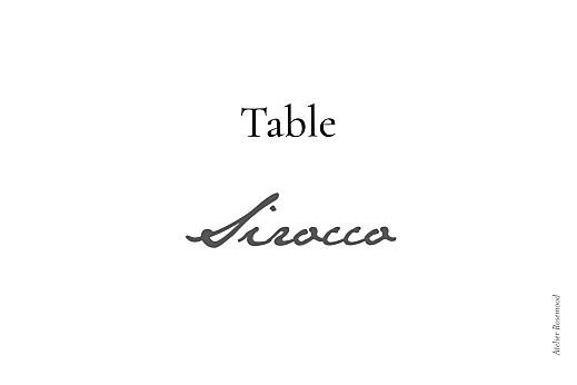 Marque-table mariage Sobre blanc - Page 2