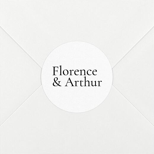 Stickers pour enveloppes mariage Sobre 1 - Vue 2