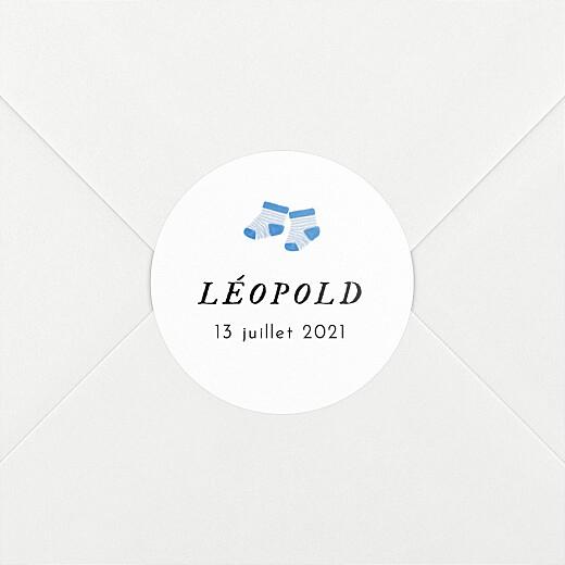 Stickers pour enveloppes naissance Petit bateau x rosemood chaussettes - Vue 2