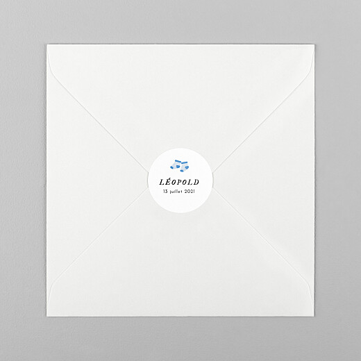 Stickers pour enveloppes naissance Petit bateau x rosemood chaussettes - Vue 1