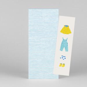Faire-part de naissance Petit bateau x rosemood (marque-page) bleu
