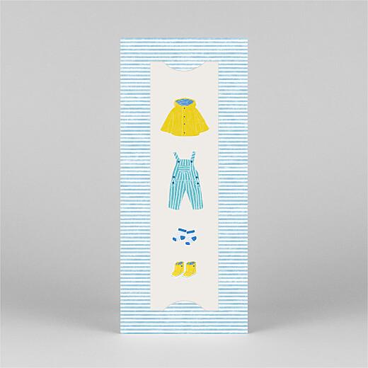 Faire-part de naissance Petit bateau x rosemood (marque-page) bleu - Vue 2