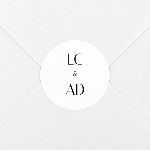 Stickers pour enveloppes mariage Empreinte blanc - Vue 2